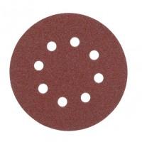 Шлифкруг AEG ф 125, зерно 40, к эксцентриковым шлифмашинам AEG, BOSCH (Велькро) 25 шт