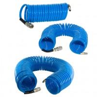 Шланг полиуретановый спиральный с фитингами FUBAG 6х10 5 м
